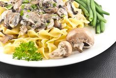 Mushroom Stroganoff Royalty Free Stock Photos