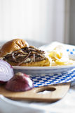 Mushroom Swiss Burger Royalty Free Stock Images