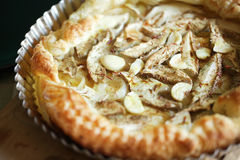 Mushroom tart made from porcini, saffron and garli Royalty Free Stock Photography
