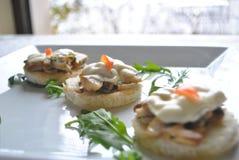 Mushroom Tartine Royalty Free Stock Images
