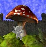 Mushroom & teddy bear Stock Photography
