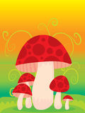 Mushroom Template Royalty Free Stock Photos