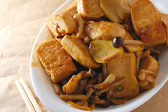 Mushroom tofu Stock Photo