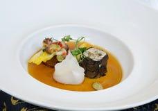 Mushroom tofu with scrimp dumpling Stock Images