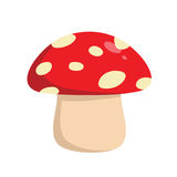 Mushroom Vector Illustration. Flat Design Royalty Free Stock Photos