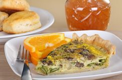 Mushroom and Vegetable Quiche Royalty Free Stock Photography