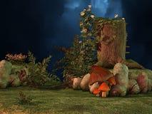 Mushroom world stock illustration