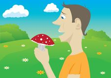 Mushroomer Royalty Free Stock Photography