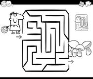 Mushrooming maze coloring page Stock Image