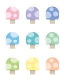 Mushrooms. Colorful Mushrooms Royalty Free Stock Photos