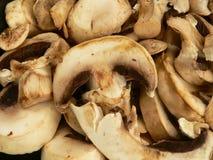 Mushrooms. Sliced Mushrooms royalty free stock image