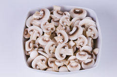 Mushrooms. Picture of mushrooms in a white bowl Royalty Free Stock Photos