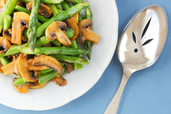 Mushrooms and asparagus Royalty Free Stock Image