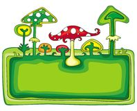Mushrooms banner Royalty Free Stock Images