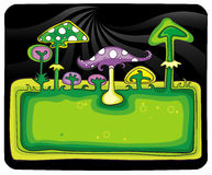 Mushrooms banner. Royalty Free Stock Photography