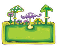 Mushrooms banner Royalty Free Stock Photo