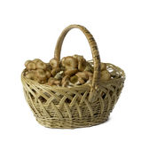 Mushrooms in a basket Stock Photography