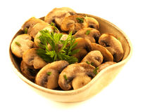 Mushrooms bowl. Royalty Free Stock Images