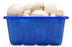 Mushrooms in a Box Stock Photo