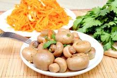 Mushrooms and carrots in Korean Stock Photos