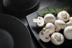 Mushrooms Champignons Stock Photo