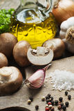 Mushrooms Champignons Stock Images