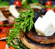 Mushrooms with cheese Stock Photography