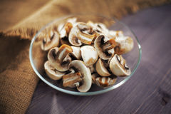 Mushrooms chopped Royalty Free Stock Images