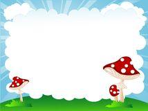 Mushrooms and cloud Royalty Free Stock Image