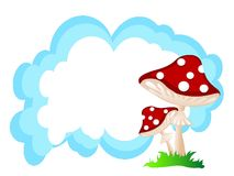 Mushrooms and cloud Royalty Free Stock Photography