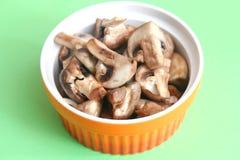 Mushrooms with cream Stock Photos