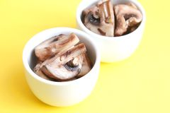 Mushrooms with cream Royalty Free Stock Images