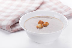 Mushrooms cream soup with agaric Royalty Free Stock Photo