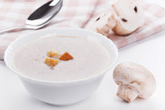 Mushrooms cream soup Royalty Free Stock Photos