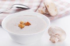 Mushrooms cream soup Stock Photo