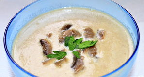 Mushrooms cream soup Stock Photography