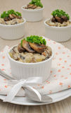 Mushrooms in a creamy sauce Royalty Free Stock Image