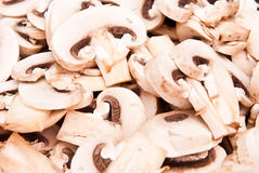 Mushrooms cutted to pieces Stock Photography