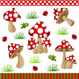Mushrooms Digital Collage Royalty Free Stock Photography