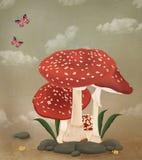 Mushrooms family Royalty Free Stock Image