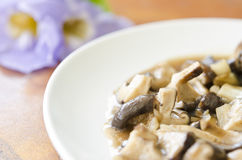 Mushrooms fried. With black pepper Royalty Free Stock Image