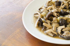 Mushrooms fried. With black pepper Royalty Free Stock Photo