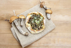 Mushrooms galette, selective focus Royalty Free Stock Images