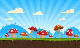 Mushrooms Game Background royalty free stock photography
