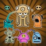 Mushrooms guys. Vector image. mushrooms guys illustration Stock Images