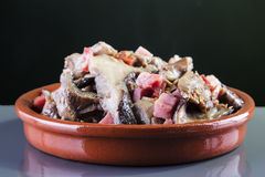 Mushrooms with ham Stock Image