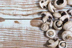 Mushrooms. For healthy food and a diet, support squirrels and antioxidants Royalty Free Stock Photo