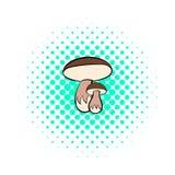 Mushrooms icon, pop-art style Stock Image