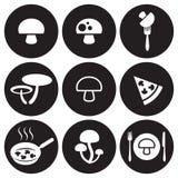 Mushrooms icons set Royalty Free Stock Photo