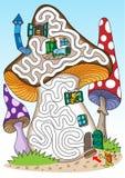 Mushrooms - labyrinth for kids. Stock Image